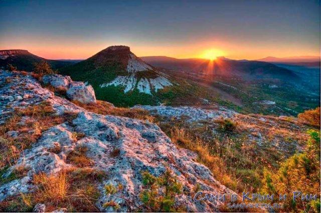 Закат над качинской долиной
