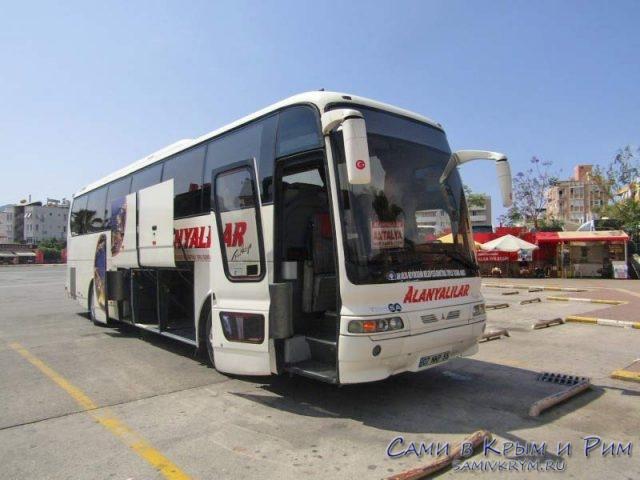 Автобус компании Акдениз Алания-Анталия