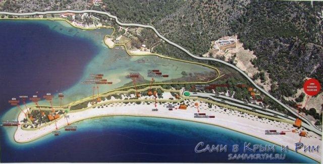 План-схема территории Голубой лагуны