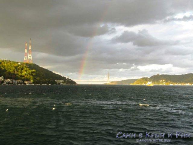 Радуга на выходе из Босфора в Черное море