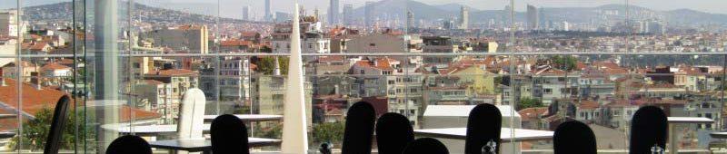 Вид на Стамбул из ресторана 360