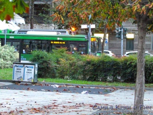 Автобусный парк Милана