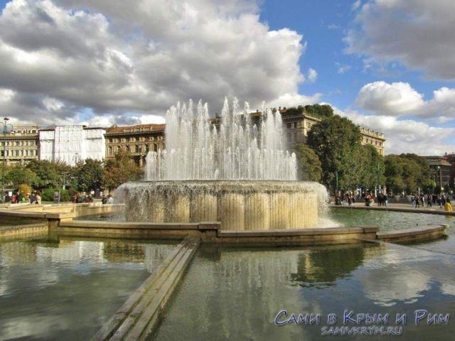 Фонтан на площади Кастелло