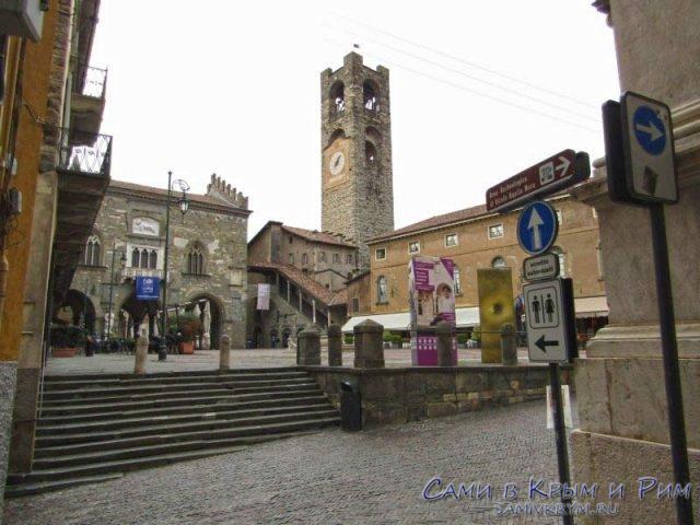 Главная площадь старого Бергамо