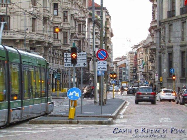 Оживленные улицы Милана