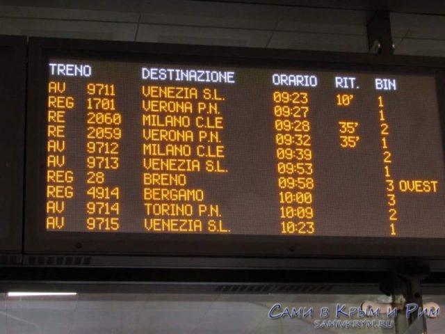 Расписания поездов по станции