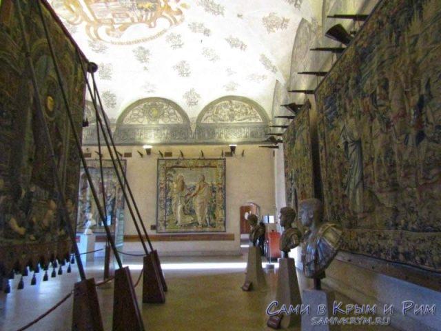 Срденевековые шпалеры в музее