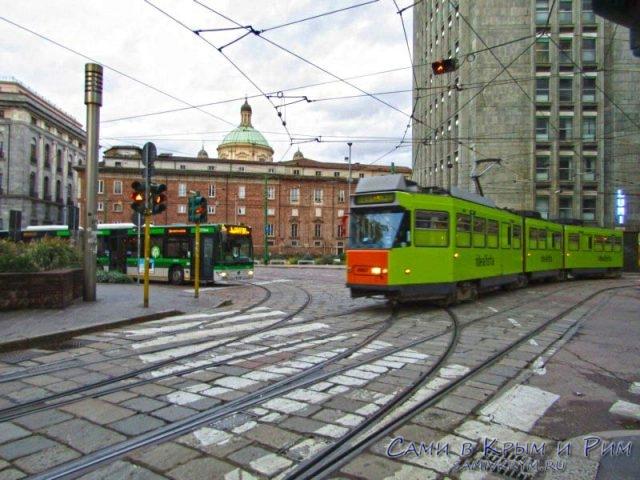 Трамваи в Милане
