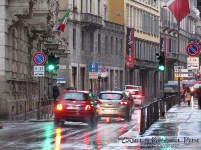 Транспортные потоки Милана
