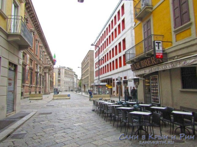 Улица Брера и одноименное кафе
