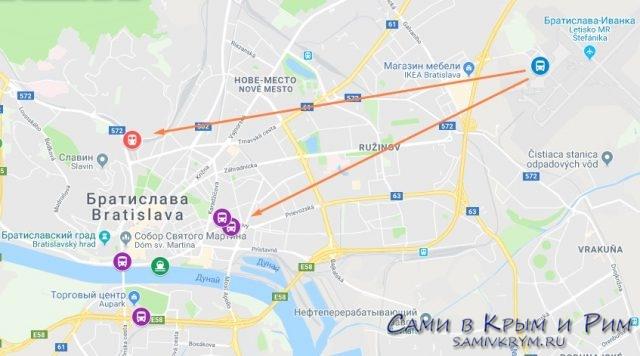 Автовокзалы Братиславы