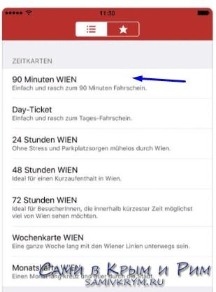 Билет на 1 поездку в Вене