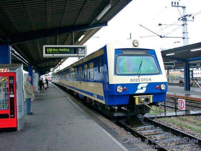 Электричка S7 из аэропорта Вены