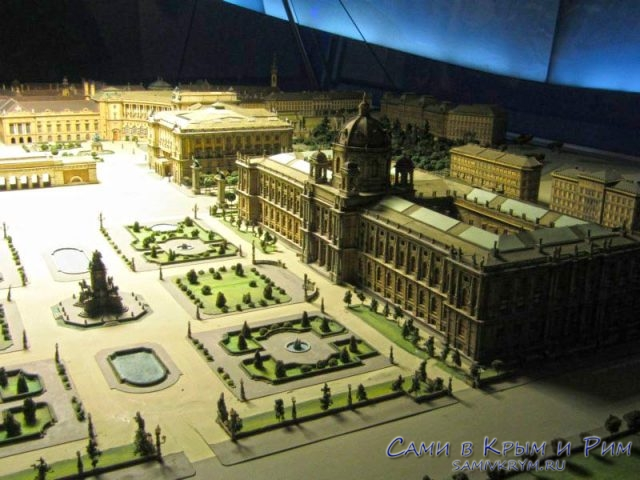 Макет дворца Хофбург в музее Сиси