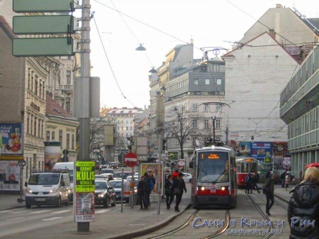 Новые низкополые трамваи Вены