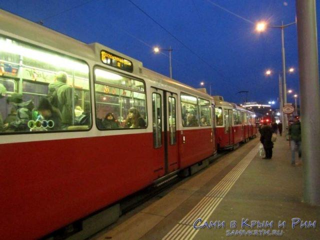 Старые трамваи в Вене