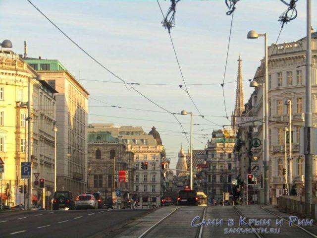 Трамвайные пути к центру города