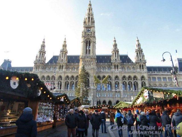 Венская Ратуша в канун Рождества