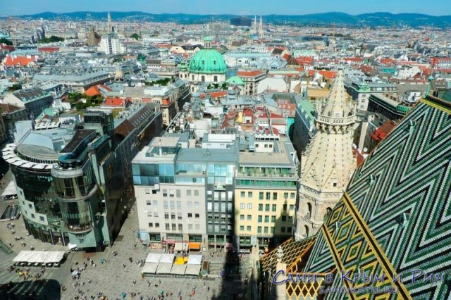 Вид сверху на Вену