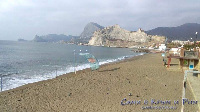 Пляжи Судака не в сезон