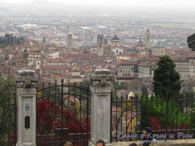 Шикарный вид на пригороды Бергамо
