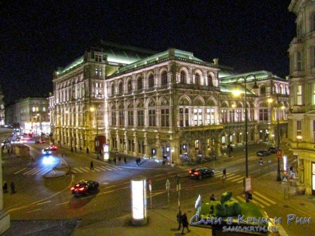 Венская опера в чудной подсветке