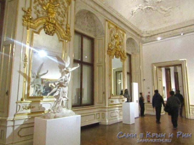 Внутренний интерьер Верхнего дворца в Бельведере