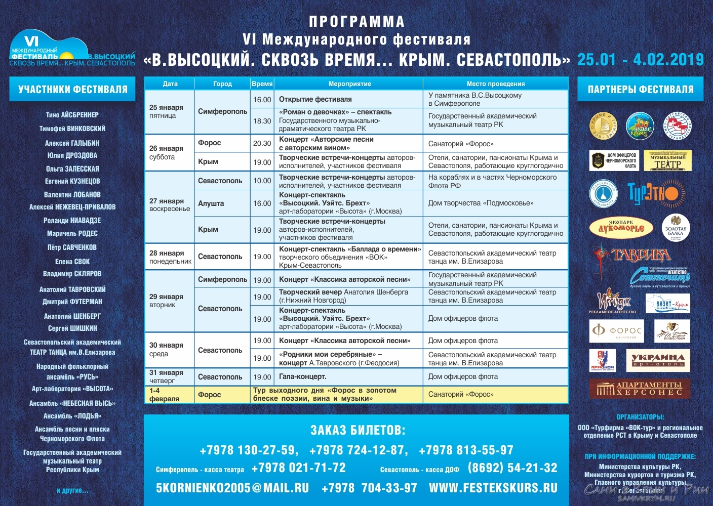 Совсем скоро стартует VI Международный фестиваль В. Высоцкого в Крыму