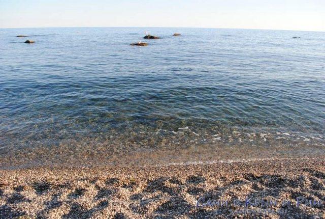 Чистое море в Форосе