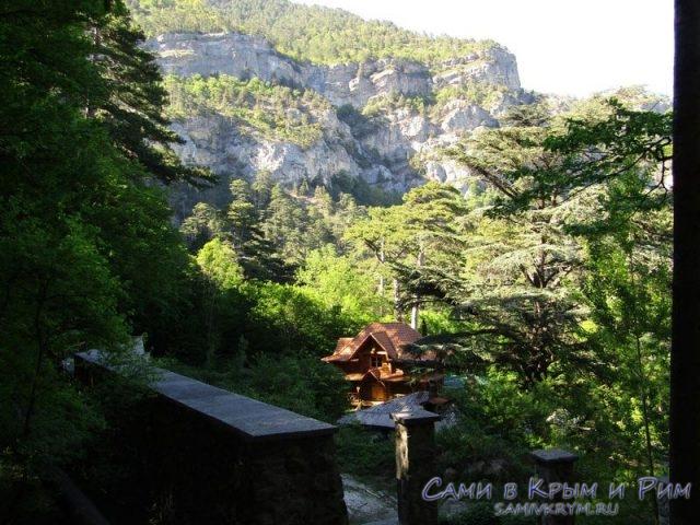 Чудный домик в вековом лесу
