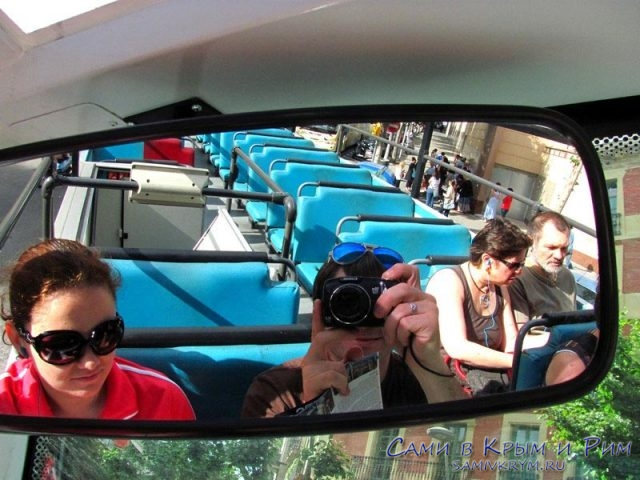 На туристическом автобусе в Барселоне
