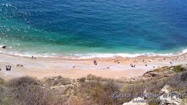 Пляж Васили сверху