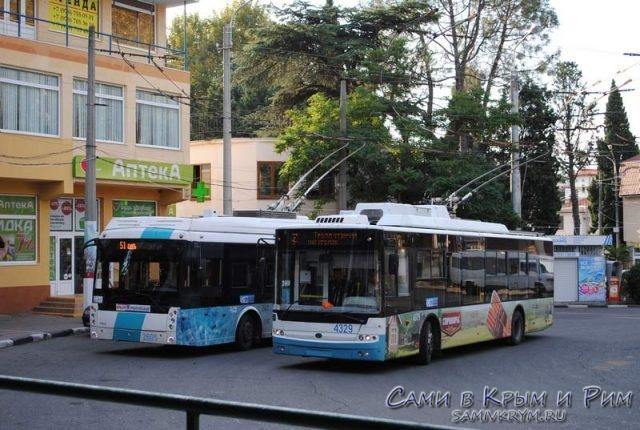 Общественный транспорт Алушты