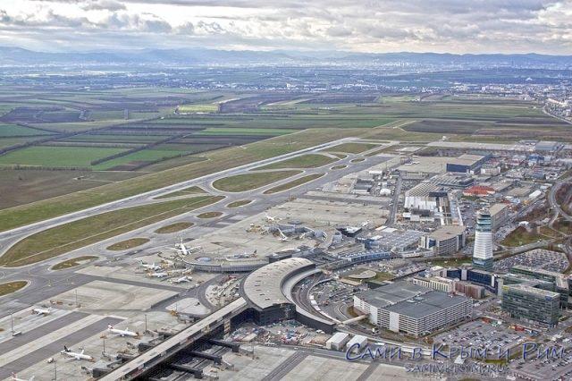 Аэропорт Швехат вид сверху