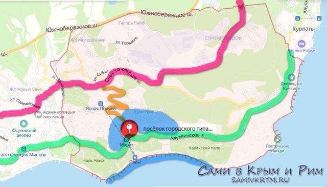 Карта Гаспры