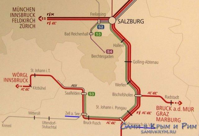 Железные дороги региона Зальцбург