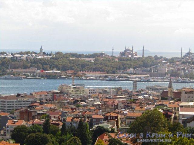 Европейская сторона Стамбула с другого берега