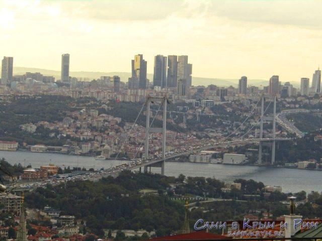 Вид с холма на 1-й Босфорский мост