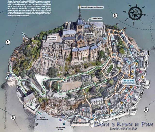Карта-замка-Сен-Мишель