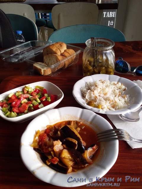 Обед в локанте на автовокзале Бодрума