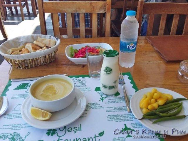 Обед в одной из столовых Каша