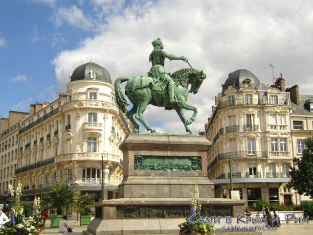 Памятник Жанне де Арк в Орлеане