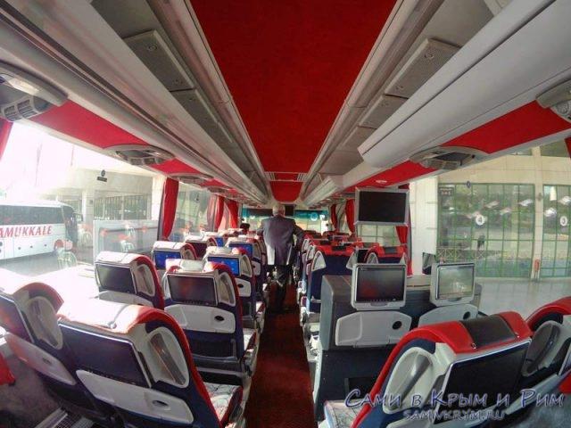 Салон турецкого междугороднего автобуса