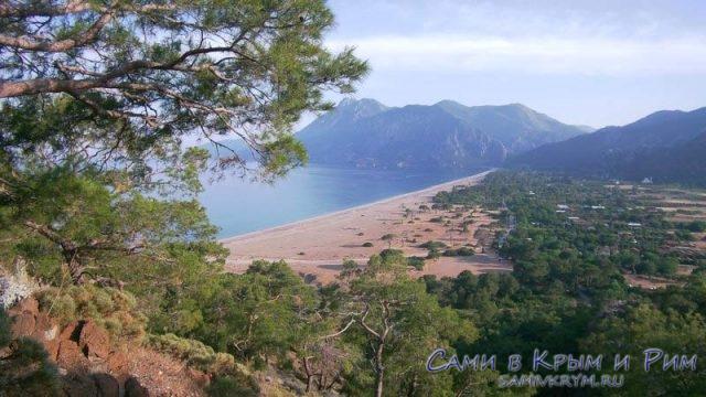 Вид на Чирали с Ликийской тропы