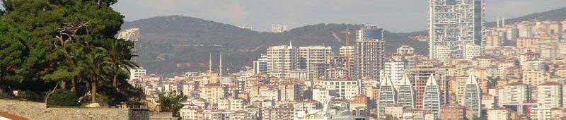 Вид с отровов на Стамбул
