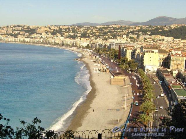Английская набережная и пляжи Ниццы