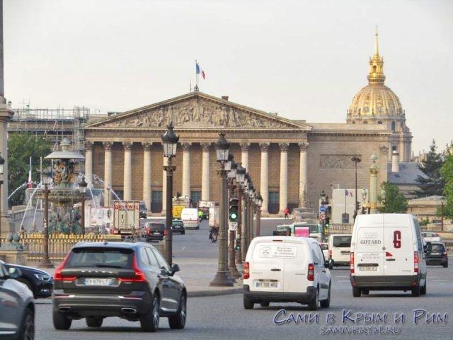 Дорожная развязка на площади Согласия