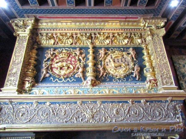Фамильный герб Франциска и его супруги