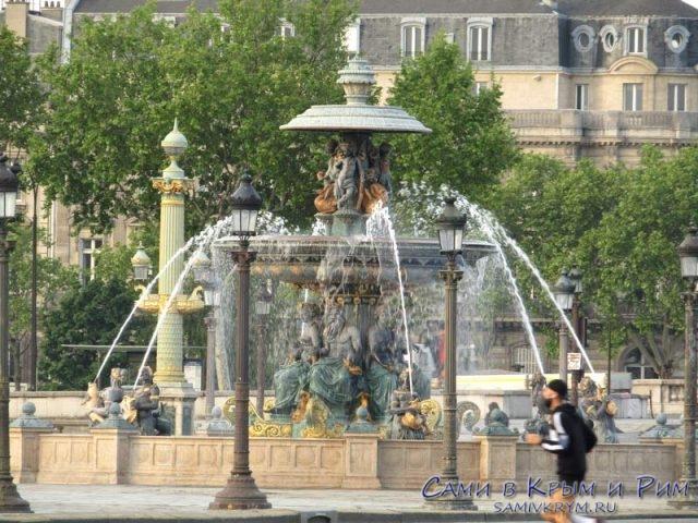 Фонтан на площади Конкорд