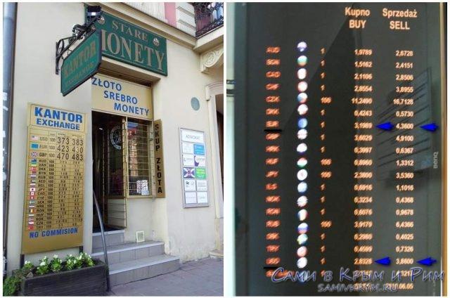 Кантор-обмен-валют-в-Польше